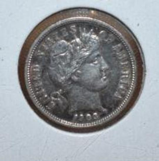 1903 Barber Dime, Exc. Detail