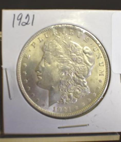 U. S. Morgan Silver dollar, 1921 Nice Detail