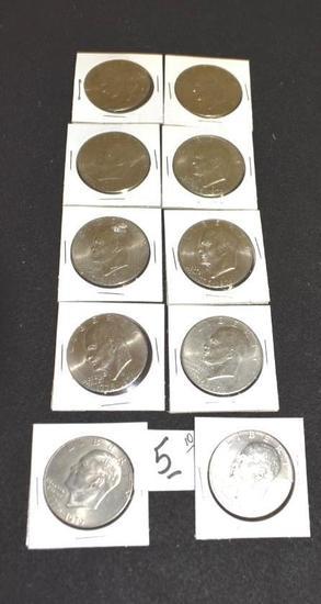 "Eisenhower ""IKE"" Dollars, Bicentennial 1776-1976 (10)"