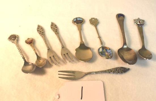 Lot of Souvenir forks and Spoons 9 total