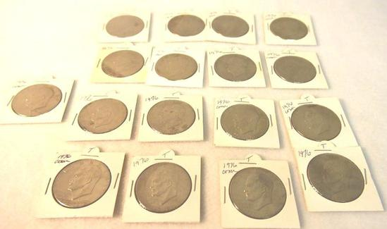 1776-1976 Commemorative IKE Dollars 17 Total