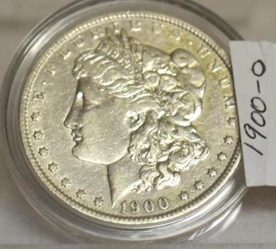 1900-O U S Morgan Silver Dollar, Good, Sharp Markings