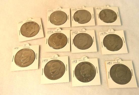 "Eisenhower ""IKE"" Dollars 1971-1972(11 total)"