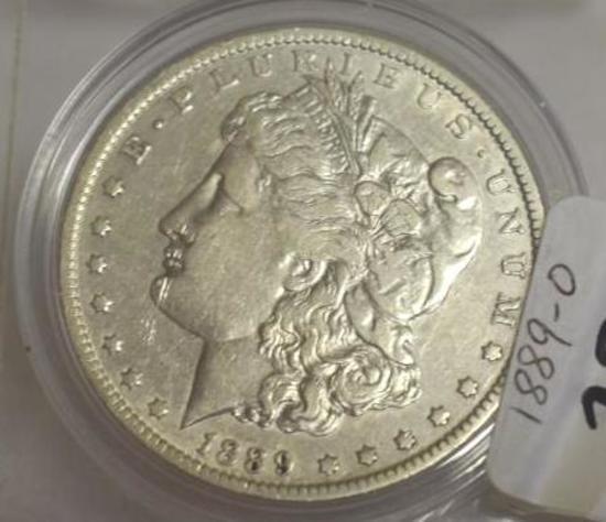 1889-O U. S. Morgan Silver Dollar, Clear Details