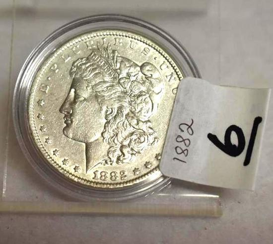 1882 U S Morgan Silver Dollar, Excellent Details