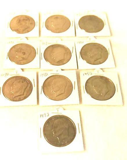 1972 IKE Dollars, 10 total