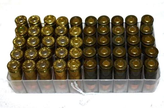 Box of 50 9mm Luger Ammo, possible Reloads