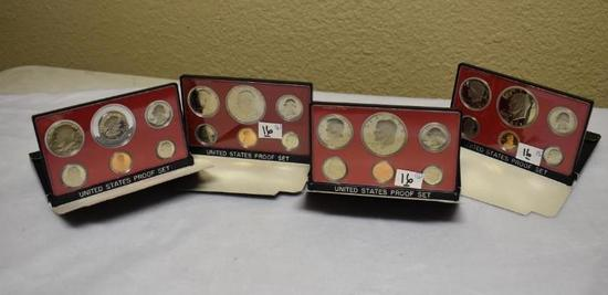 (4) U S Proof Sets, Packaged by US Mint 1976-1977-1978 & 1979