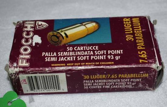 Fiocchi 30 Luger/7.65 parabellum Ammo