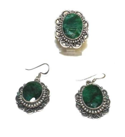 925 Sterling Ladies ring and matching Earrings