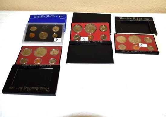 United States Mint, Proof Sets: 1972-1973-1975-1976