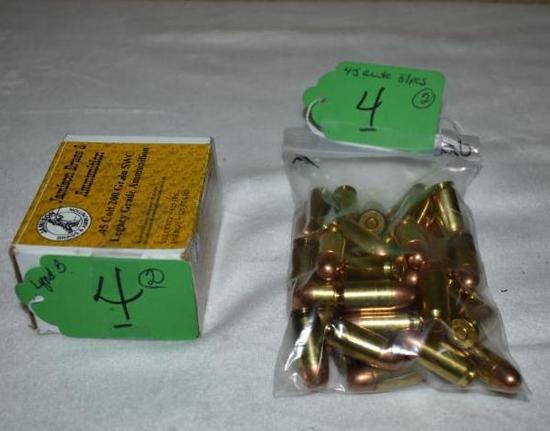 Jamison .45 Colt, 200 Grain Ammo and Bag of Loose rounds 37 pcs