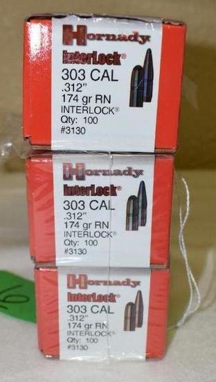 Hornady Interlock 303 cal Bullets, 100 per box
