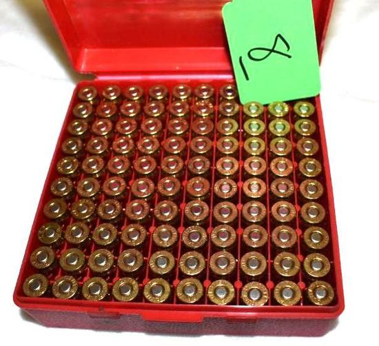 Federal 45 auto brass cased Ammo 100 rounds, possible reloads