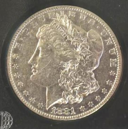US Morgan Silver Dollar 1881-S