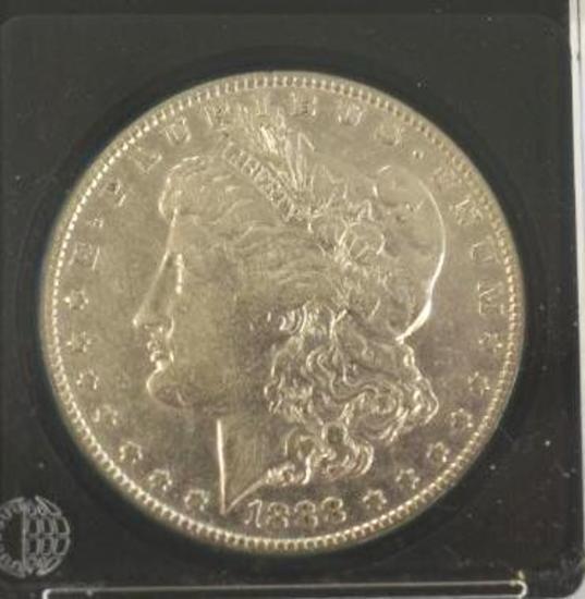 U S Morgan Silver Dollar 1888-O with nice clear markings