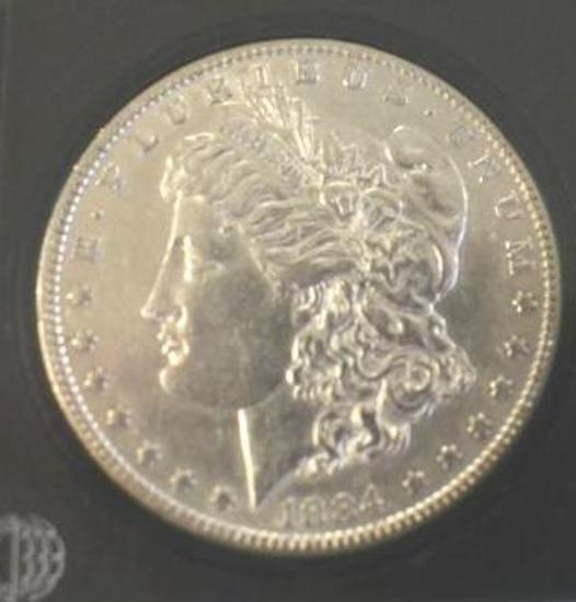 US Morgan Silver Dollar, 1884 Nice Details