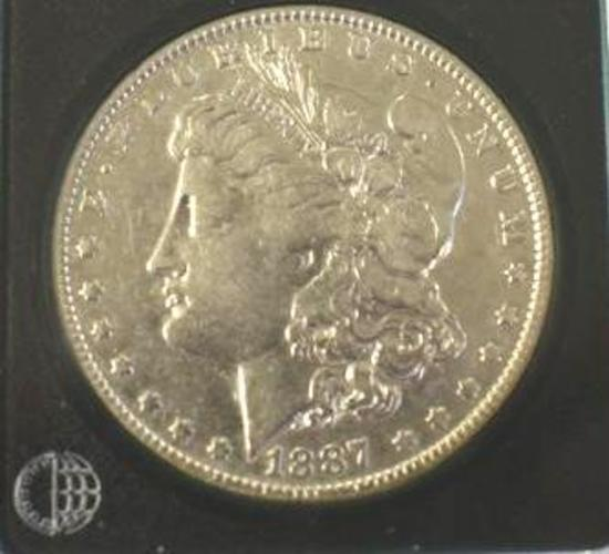 US Morgan Silver Dollar 1887-O Nice Clear Face