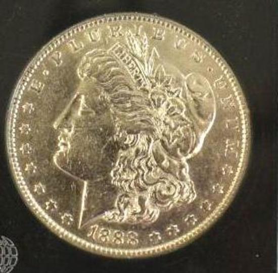 US Morgan Silver Dollar 1888-O, Nice brilliant shine