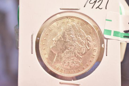 1921 US Morgan Silver Dollar, Nicely Detailed, some light toning