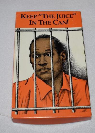 """Collector """"OJ"""" Knife in original box """"Keep the Juice in the Can"""""""