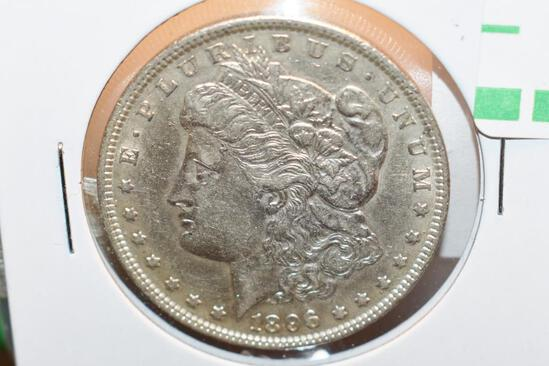 1896 US Morgan Silver Dollar, full Liberty, Great Details