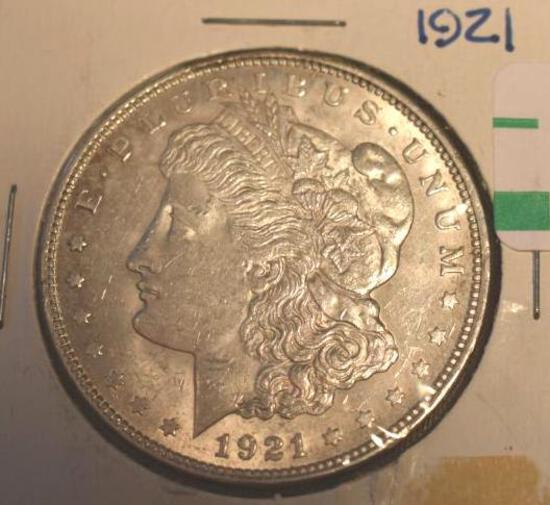 1921 US Morgan Silver Dollar, Nicely Detailed