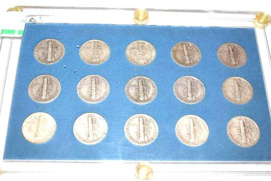 Collection of Vintage US Mercury Dimes War Time 1941-1945
