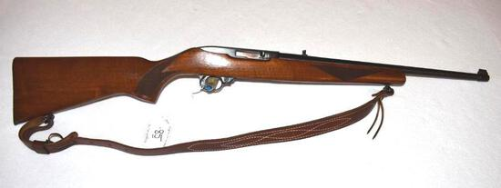Ruger 10-22 Rifle, One piece hardwood checkered stock, Front blade sight, good bore, 18 inch barrel