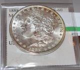 1888 US Morgan Silver Dollar with nice bright shine