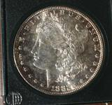 US Morgan Silver Dollar 1882-S Nice Bright Shine Compare to MS 63+, appears near Unc. Proof Like