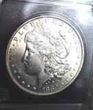 1880-O US Morgan Silver Dollar, Key Date 1880-O, Crisp markings, compares to MS63