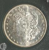 1880-S US Morgan Silver Dollar, Excellent Detail, High Grade, compares to MS 62++