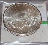 US Morgan Silver Dollar 1882-S Nice Bright Shine Eastern Numismatics Graded MS60