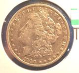 1900-O US Morgan Silver Dollar, Nice Clear Coin, Showing Some wear to hairline