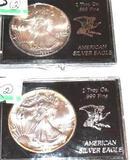 One Dollar American Silver Eagle Coin, 1 Troy Oz .999 Fine Silver