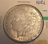 1921 US Morgan Silver Dollar, Nicely Detailed
