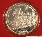 American Steam Locomotive 1 oz Silver Round .999 Fine Silver Uncirculated