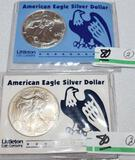 American Eagle Silver Dollars- Uncirculated 1 oz each .999 Fine Silver