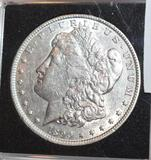 1890 US Morgan Silver Dollar, Full Liberty, Full Details; MS 65 books to $3200