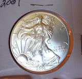 2001 U S American Eagle One Dollar, 1 oz Fine Silver , Unc. Condition