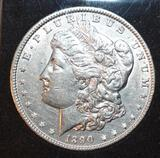 Collector Coin: US Morgan Silver Dollar, Braid Hairline, Clear Face Detail, Nice Wing Detail
