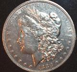 US Morgan Silver Dollar 1880, Hairline and Liberty with Great Details