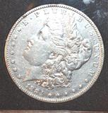 1884 US Morgan Silver Dollar, Clear Face, Exc.Details Books to $3200 in MS 65