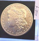 KEY DATE: 1896-O US Morgan Silver Dollar, Nice Collector Coin, Clear Details