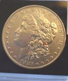 1882-O US Morgan Silver Dollar, Excellent Detail Collector Coin, Full Detail on Wings