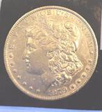 1879 US Morgan Silver Dollar, Clear Face, Crisp Detail, Collector Coin