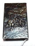 Embossed Metal Silver Cigarette Case, Denmark