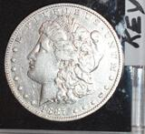 Key DATE US Morgan Silver Dollar 1887-O, Nice Shine