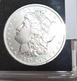 US Morgan Silver Dollar 1887-O with Crisp Liberty, Clear Face, Some wear to Eagle Wing lines